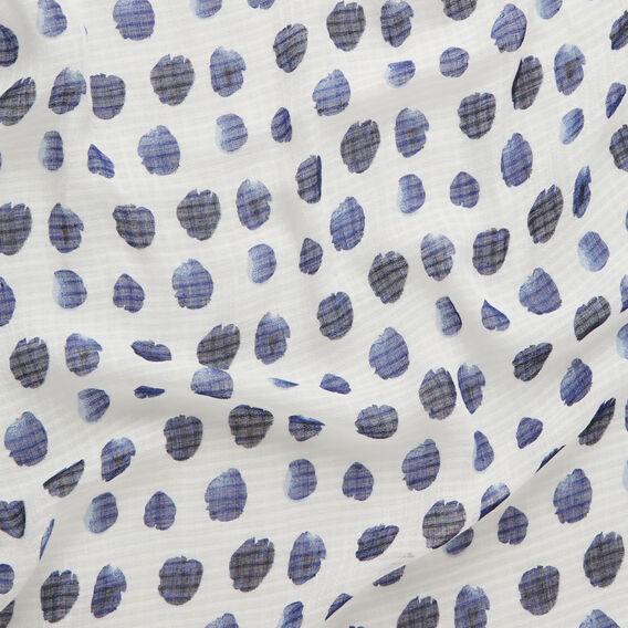 Painted Polka Dot Scarf  WHITE/ INK  hi-res