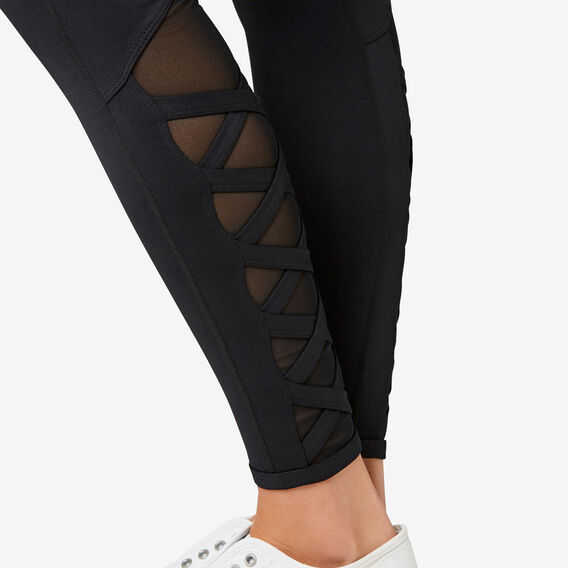 Cross Full Legging  BLACK  hi-res