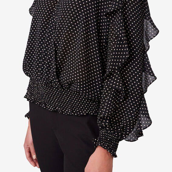 Textured Wrap Top  MINI SPOT  hi-res