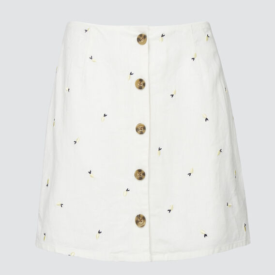 Embroidered Skirt  WHITE WASH  hi-res