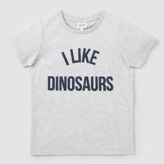 I Like Dinosaurs Tee  CLOUDY MARLE  hi-res
