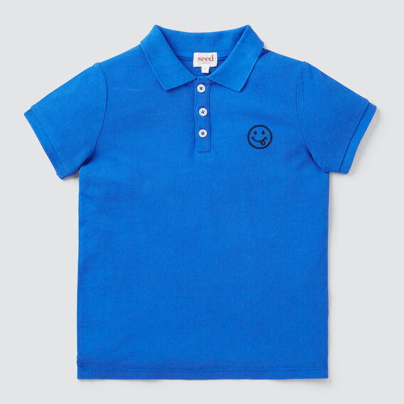 Happy Motif Polo  BRIGHT COBALT  hi-res