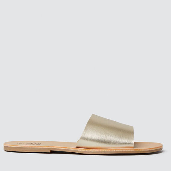 Metallic Slide Sandal  GOLD  hi-res