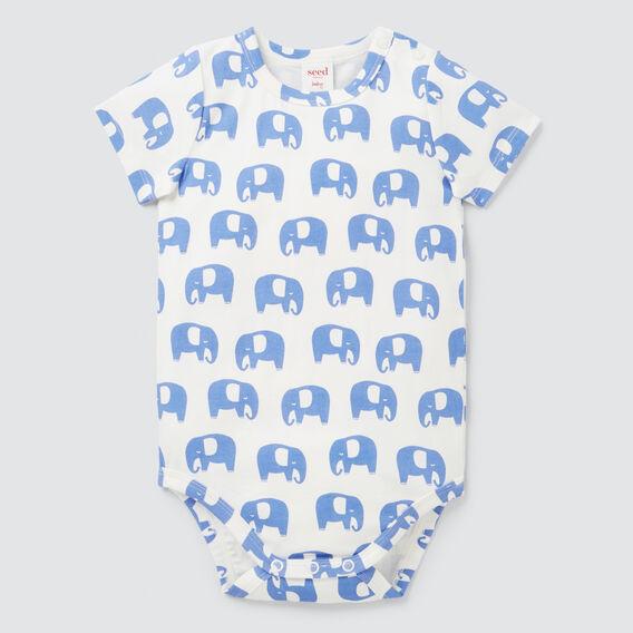 Elephant Yardage Bodysuit  BRIGHT BLUEBELL  hi-res