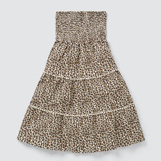 Ocelot Tiered Skirt  SAFARI  hi-res