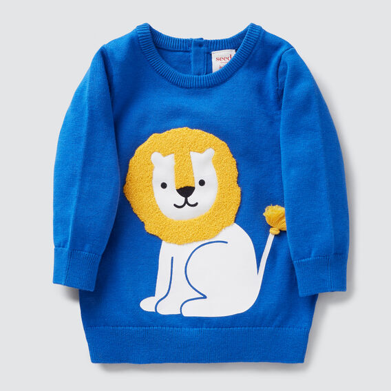 Lion Crew Knit  BRIGHT COBALT  hi-res