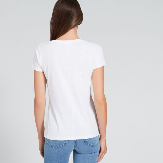 Core Fitted Scoop Neck Tee  WHISPER WHITE  hi-res