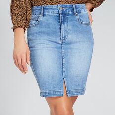 Side Stitch Denim Skirt  CLASSIC DENIM  hi-res