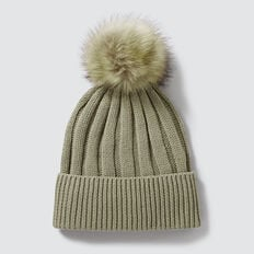Simple Rib Beanie  WASHED OLIVE  hi-res
