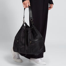 Drawstring Tote  BLACK  hi-res