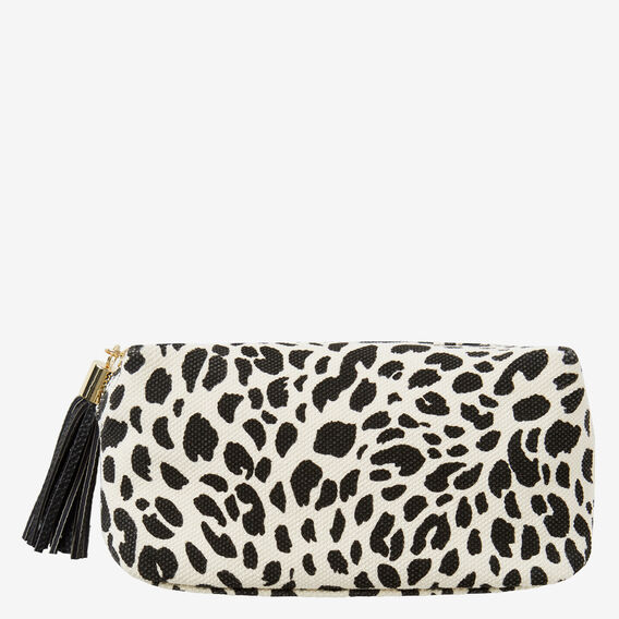 Small Cosmetic Bag  BLACK/NATURAL  hi-res