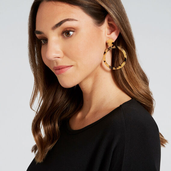 Circle Tort Earrings  TORT  hi-res