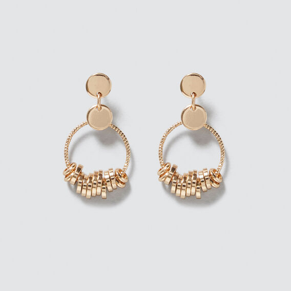 Mini Rings Earrings  GOLD  hi-res