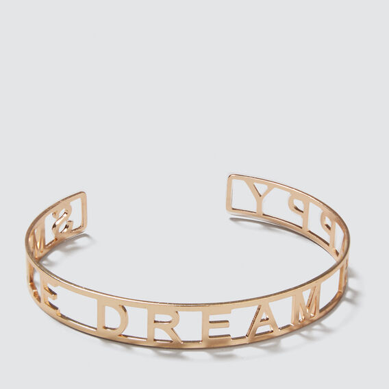 Word Cuff Bracelet  GOLD  hi-res