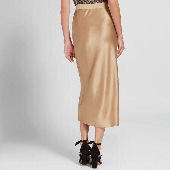 Satin Midi Skirt  LIGHT COCOA  hi-res