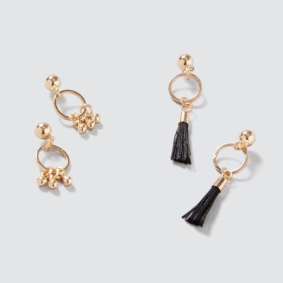 Mini Hoop and Tassel Pack  GOLD  hi-res