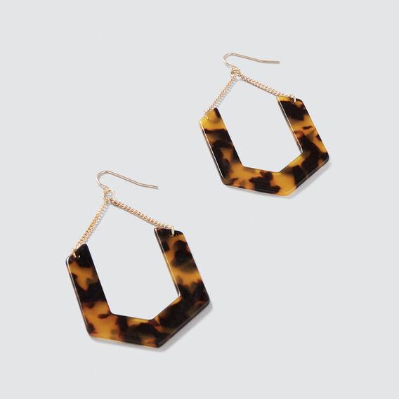 Chain Tort Earrings  GOLD/TORT  hi-res