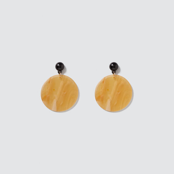Resin Disc Earrings  HONEY  hi-res