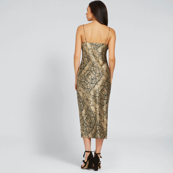 Printed Slip Dress  SNAKE PRINT  hi-res