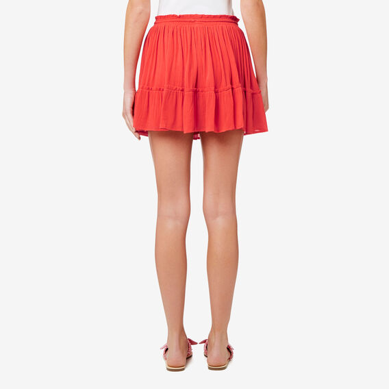 Tiered Frill Skirt  CRIMSON  hi-res