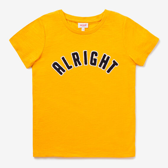 Alright Tee  DARKER MUSTARD  hi-res