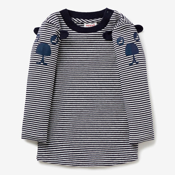 Puppy Stripe Tee  MIDNIGHT BLUE  hi-res