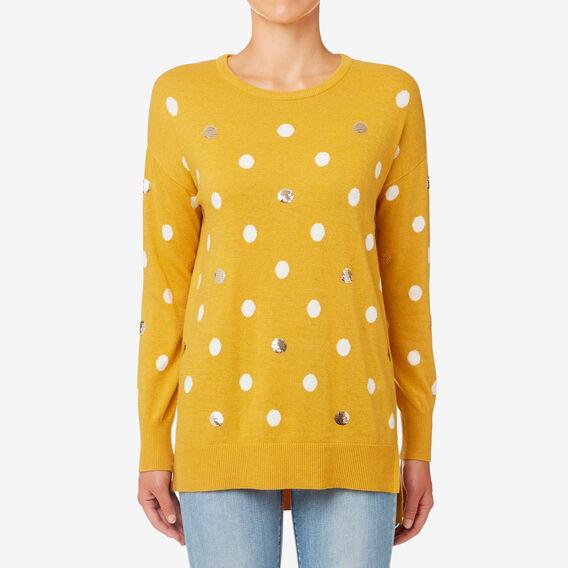 Spot Sweater  HONEY YELLOW  hi-res