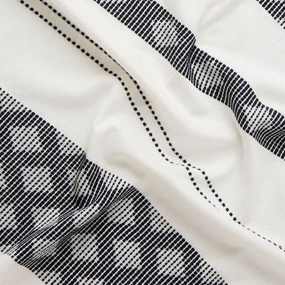 Diamond Stitch Scarf  WHITE/INK  hi-res