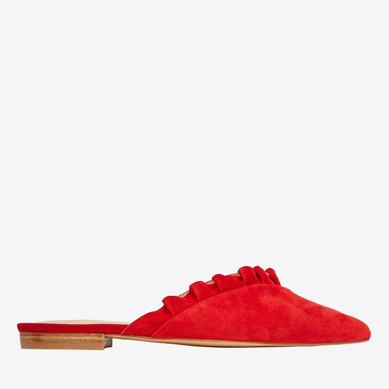 Daisy Frill Flat  RED  hi-res