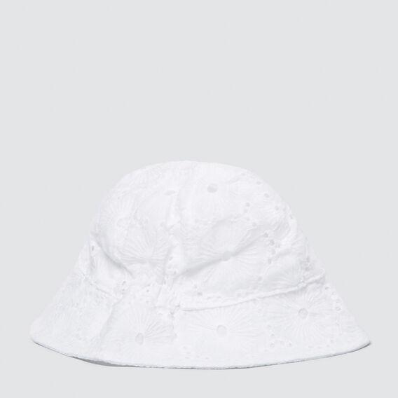 Blossom Sun Hat  WHITE  hi-res