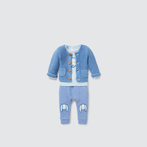 Pockets Knit Cardigan  NIAGARA BLUE  hi-res