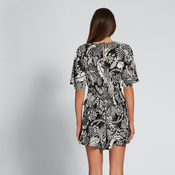 Floral Playsuit  PALM PRINT  hi-res