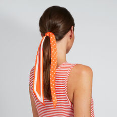 Stripe Spot Skinny Scarf  SPANISH RED  hi-res