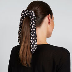 Scarf Scrunchie  BLACK ANIMAL  hi-res