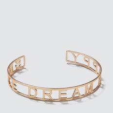 Word Cuff Bracelet  GOLD  hi-res