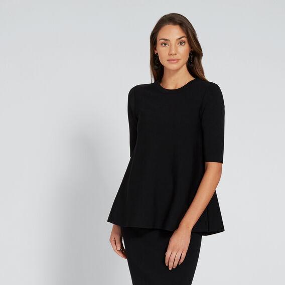 Short Sleeve Knit  BLACK  hi-res