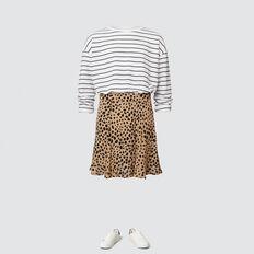 Ocelot Ruffle Skirt  FAWN  hi-res