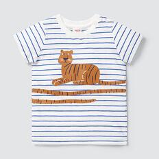 Tiger Tail Print Tee  VINTAGE WHITE  hi-res