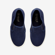 Canvas Pull-On Runner  NAVY  hi-res