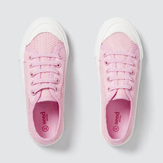 Mesh Lace-Up Runner  PINK  hi-res