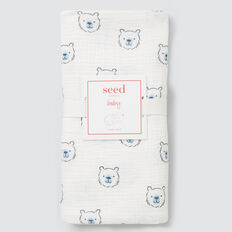 Bear Yardage Muslin Wrap  CANVAS  hi-res