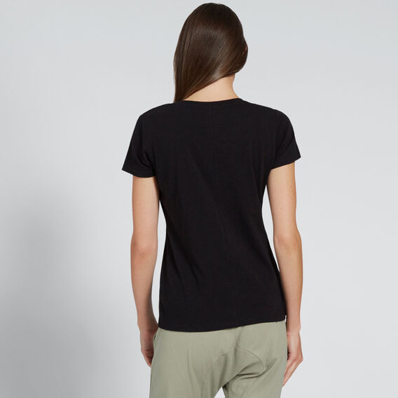 Core Fitted Scoop Neck Tee  BLACK  hi-res