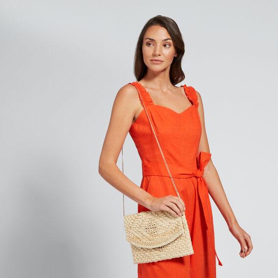 Weave Clutch  NATURAL  hi-res