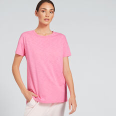 Short Sleeve Split Tee  FUSCHIA  hi-res
