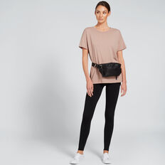 Short Sleeve Split Tee  MOCHA  hi-res