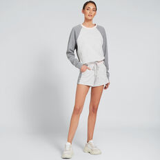 Blocked Windcheater  SMOKEY GREY  hi-res
