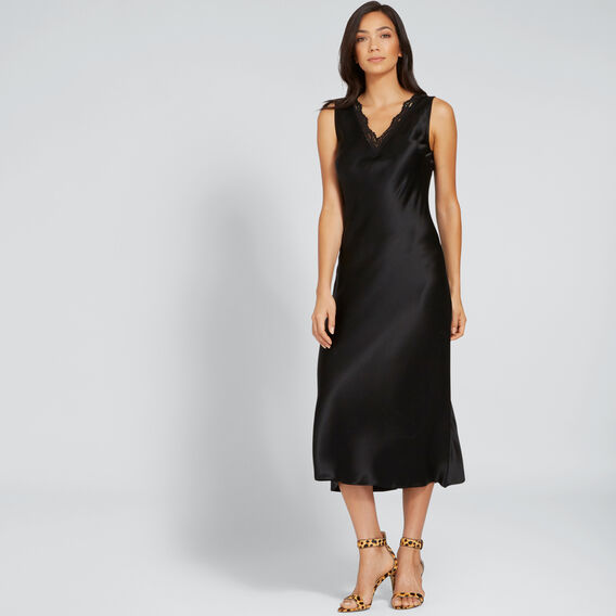 Lace Slip Dress  BLACK  hi-res