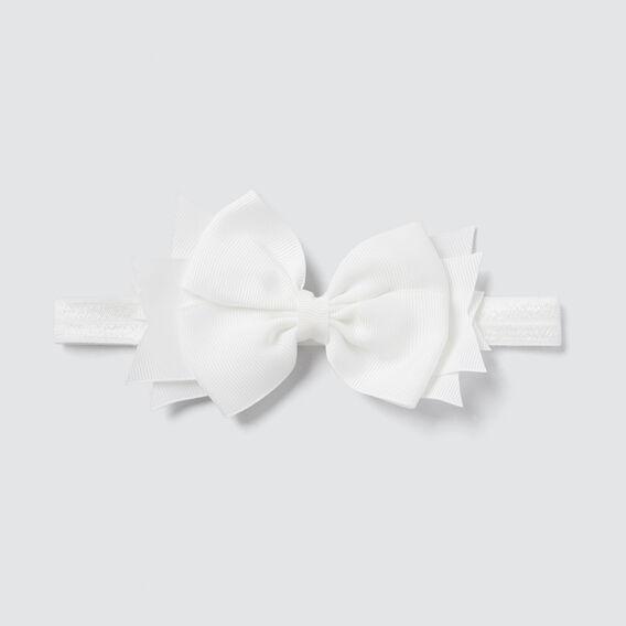 Elastic Bow Headband  WHITE  hi-res