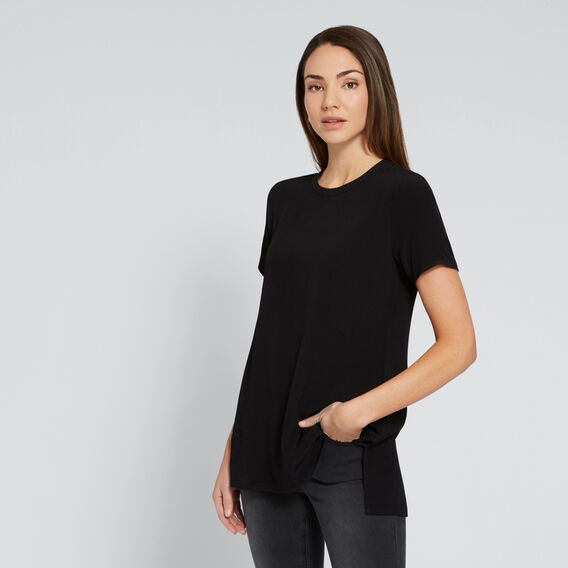 Longline Tunic  BLACK  hi-res