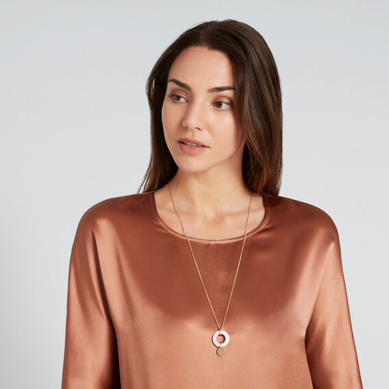 Resin Loop Necklace  GOLD  hi-res